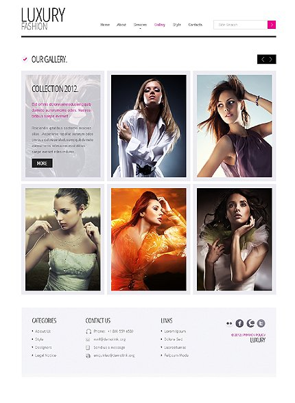 Template 37925 ( Gallery Page ) ADOBE Photoshop Screenshot