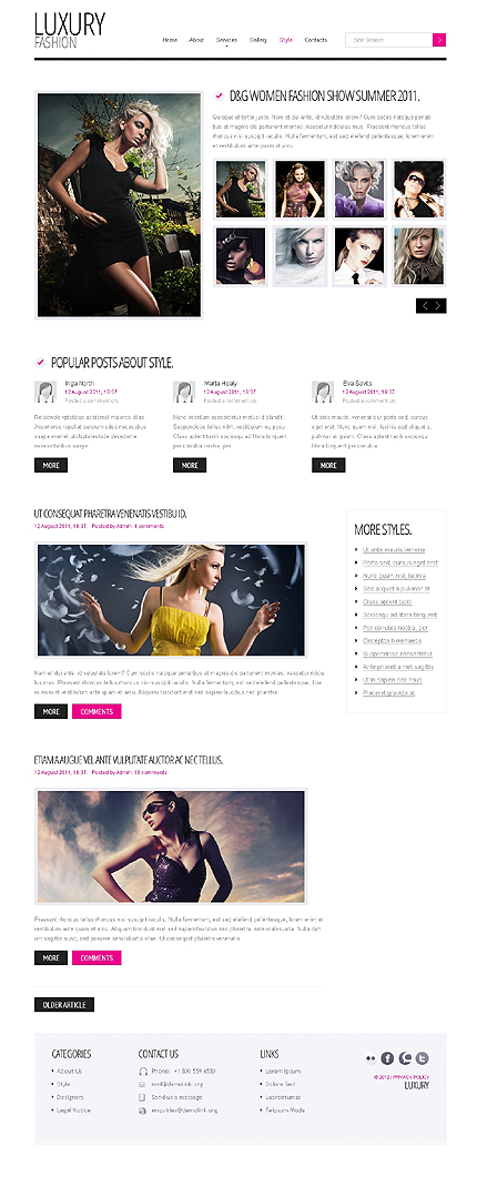 Template 37925 ( Style Page ) ADOBE Photoshop Screenshot