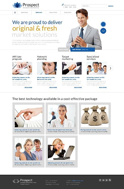 Template 37926 ( Services Page ) ADOBE Photoshop Screenshot