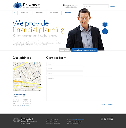 Template 37926 ( Contacts Page ) ADOBE Photoshop Screenshot