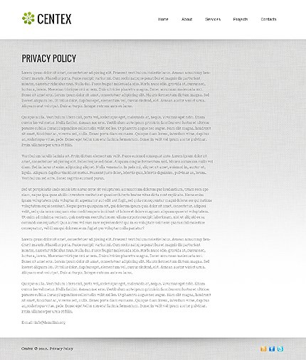 Template 37931 ( Privacy Policy Page ) ADOBE Photoshop Screenshot
