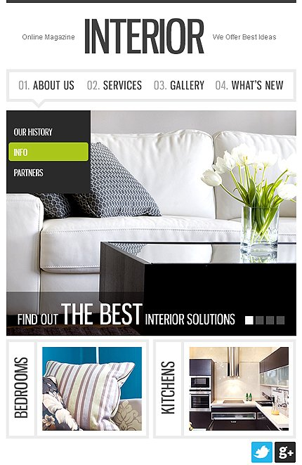 ADOBE Photoshop Template 37948 Home Page Screenshot