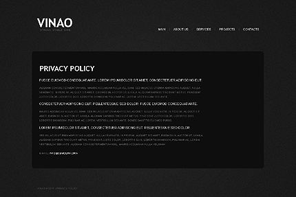 Template 37953 ( Privacy Policy Page ) ADOBE Photoshop Screenshot