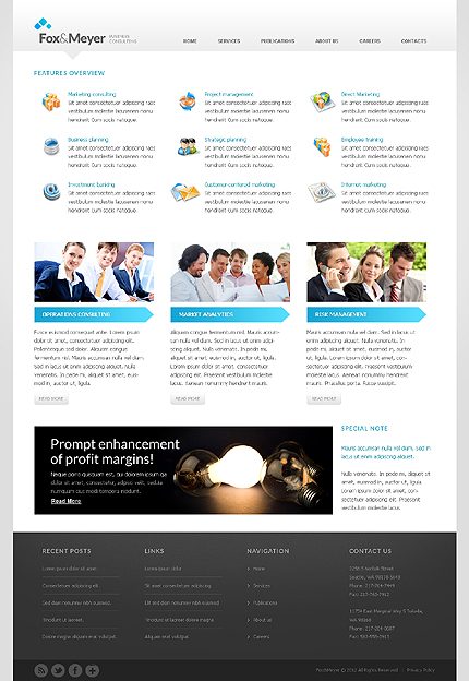 Template 37956 ( Services Page ) ADOBE Photoshop Screenshot