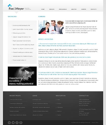 Template 37956 ( Careers Page ) ADOBE Photoshop Screenshot