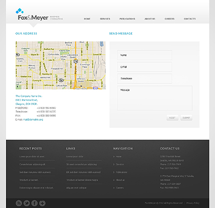 Template 37956 ( Contacts Page ) ADOBE Photoshop Screenshot