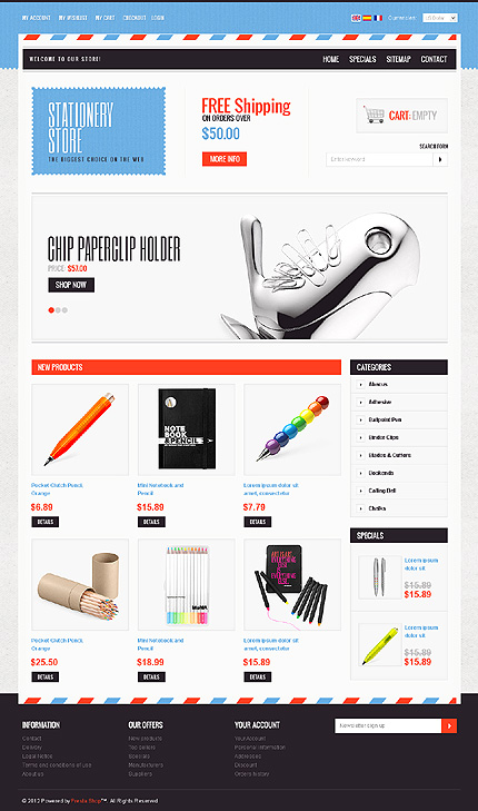 ADOBE Photoshop Template 37970 Home Page Screenshot