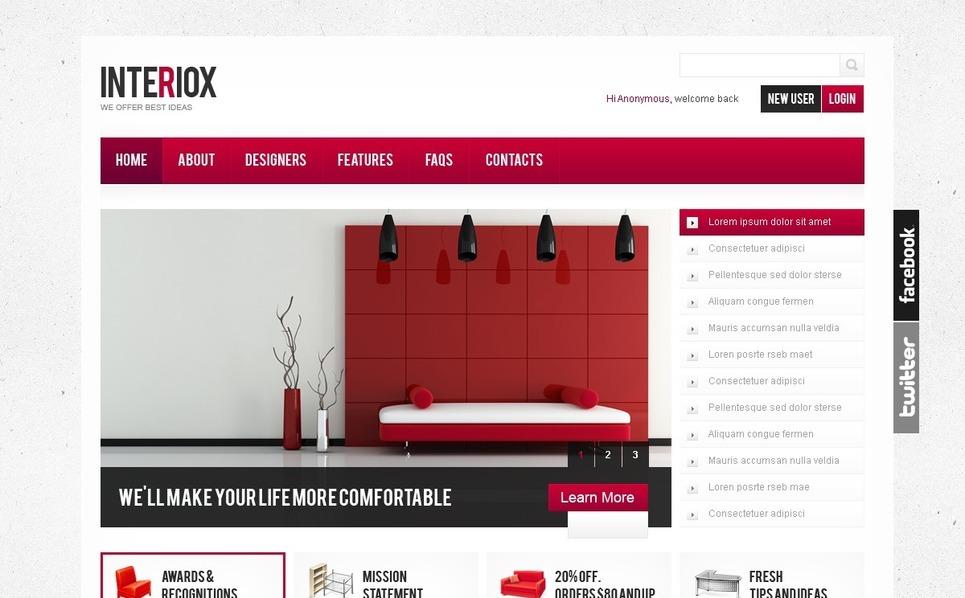 Drupal Vorlage für Innenarchitektur  New Screenshots BIG