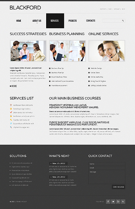 Template 37985 ( Services Page ) ADOBE Photoshop Screenshot