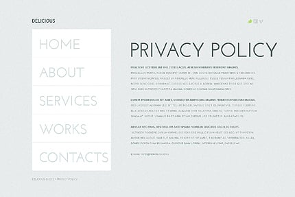 Template 37989 ( Privacy Policy Page ) ADOBE Photoshop Screenshot