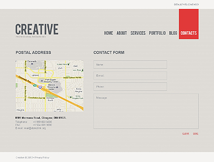 Template 37995 ( Contacts Page ) ADOBE Photoshop Screenshot