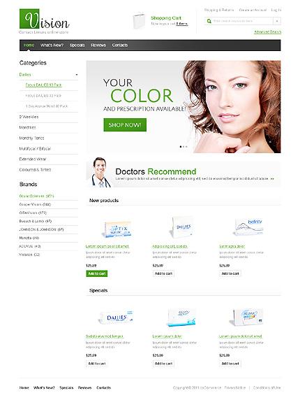 osCommerce Template 37999 Main Page Screenshot