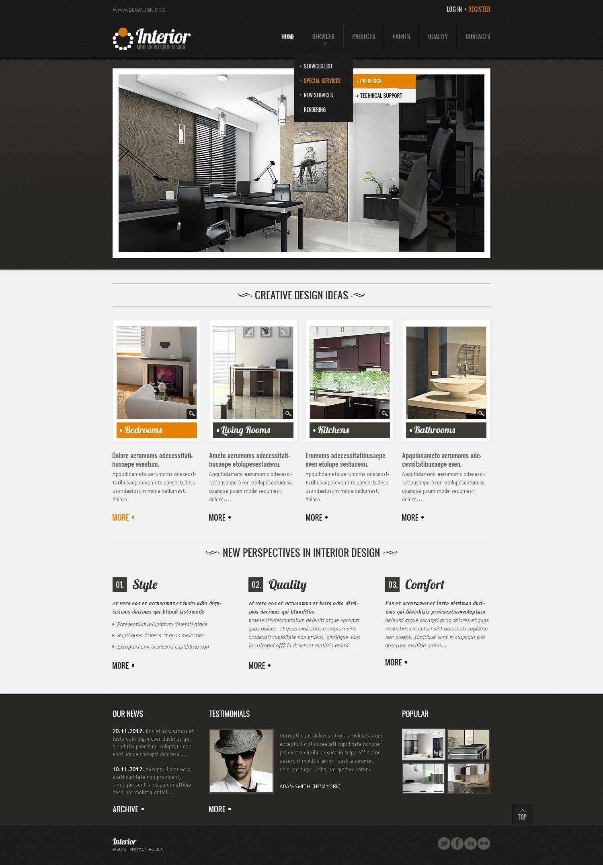 Template siti web 37996 per un sito di design di interni for Siti design interni