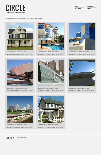 Template 38004 ( Projects Page ) ADOBE Photoshop Screenshot