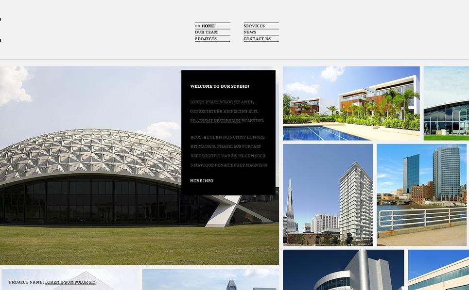 Tema siti web per un sito di architettura for Siti web di costruzione domestica