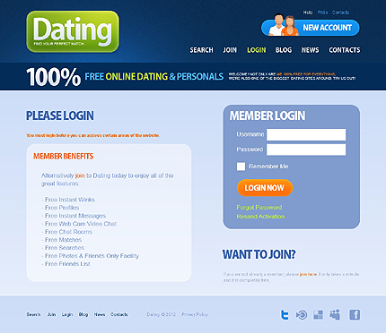 Dating website template 38020 website templates zeronese template 38020 login page adobe photoshop screenshot pronofoot35fo Choice Image