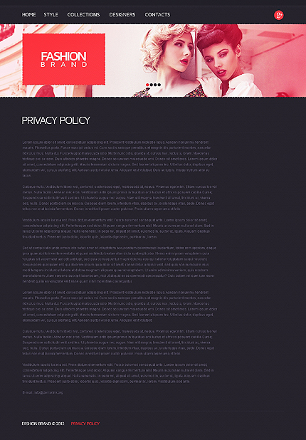 Template 38026 ( Privacy Policy Page ) ADOBE Photoshop Screenshot