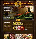 Cafe & Restaurant Website  Template 38028