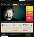 Charity Flash CMS  Template 38051