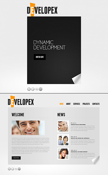 ADOBE Photoshop Template 38054 Home Page Screenshot