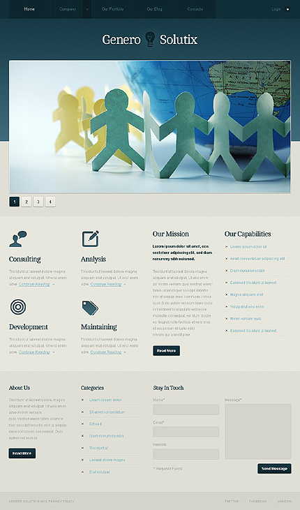 Joomla Theme/Template 38066 Main Page Screenshot