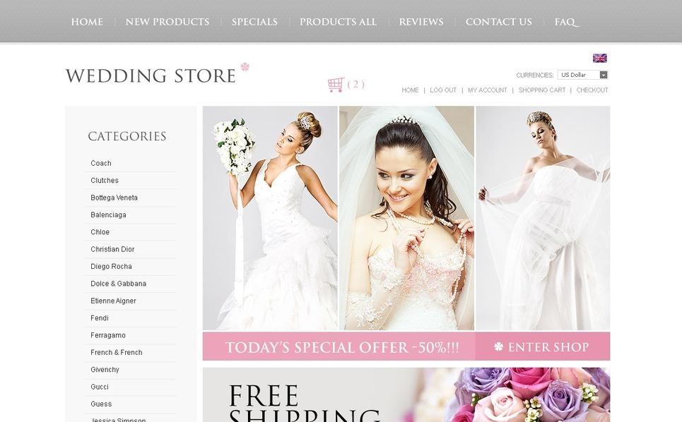 Template ZenCart  para Sites de Loja de Casamento №38067 New Screenshots BIG