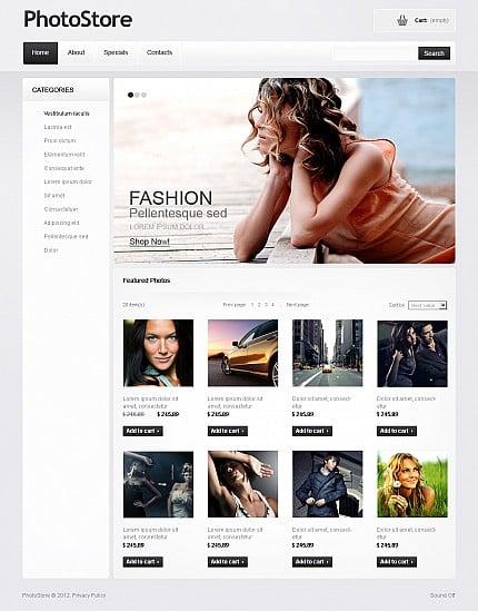 ADOBE Photoshop Template 38070 Home Page Screenshot