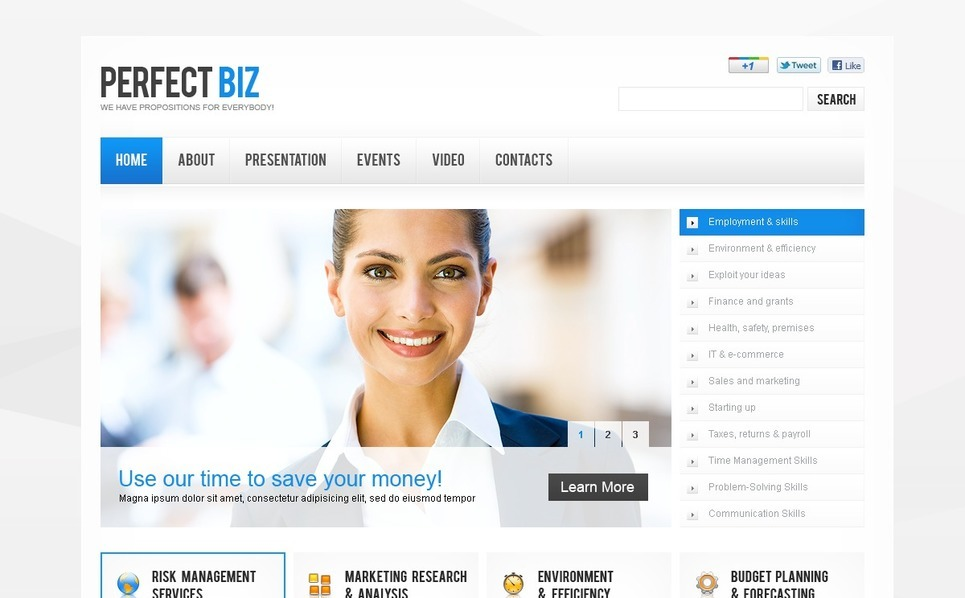 İş ve Hizmetler Flash Cms Şablon New Screenshots BIG