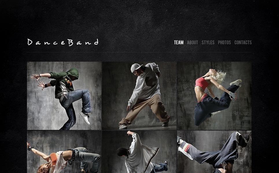 Flash CMS Vorlage für Tanzstudio  New Screenshots BIG