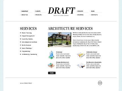 Template 38088 ( Services Page ) ADOBE Photoshop Screenshot