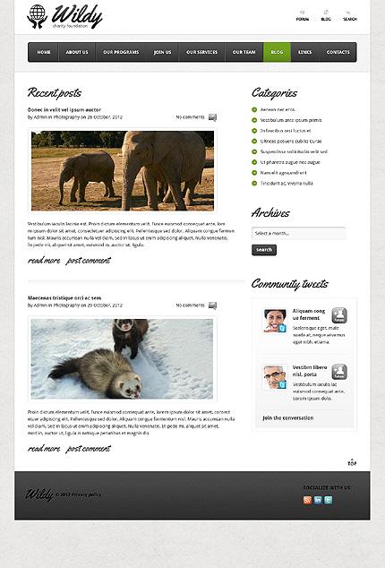 Template 38093 ( Blog Page ) ADOBE Photoshop Screenshot