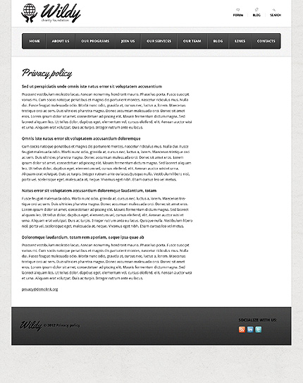 Template 38093 ( Privacy Policy Page ) ADOBE Photoshop Screenshot