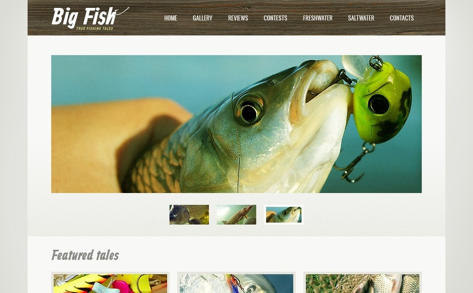 Tema Siti Web  #38094 per Un Sito di Pesca New Screenshots BIG