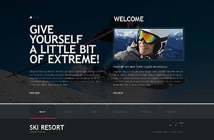 Template 38096 ( About Page ) ADOBE Photoshop Screenshot