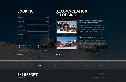 Template 38096 ( Booking Page ) ADOBE Photoshop Screenshot