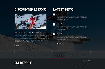Template 38096 ( Ski Lessons Page ) ADOBE Photoshop Screenshot
