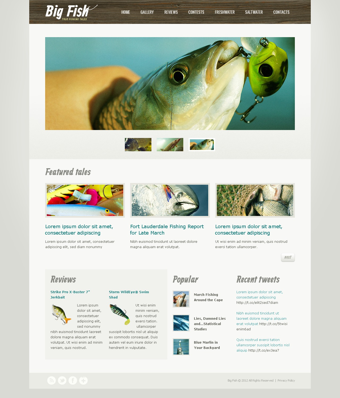 Fishing Website Templates