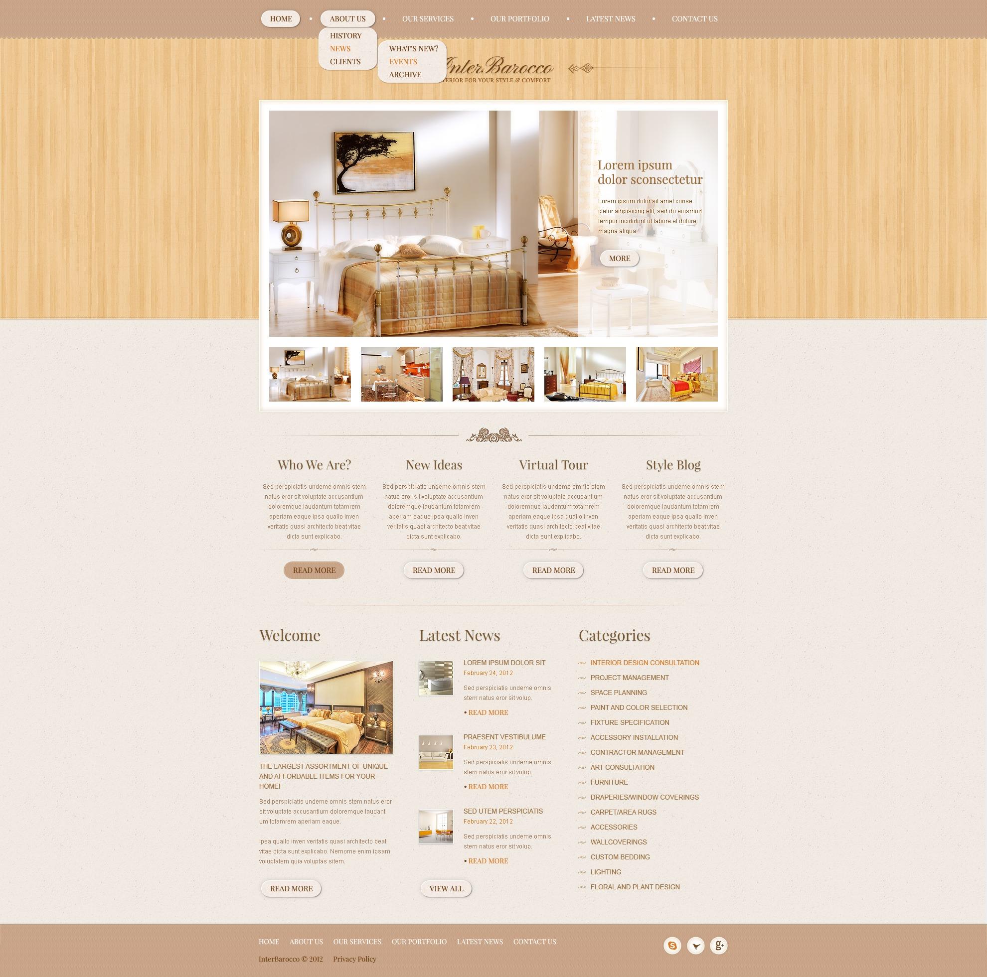 Interior Design Drupal Template - screenshot