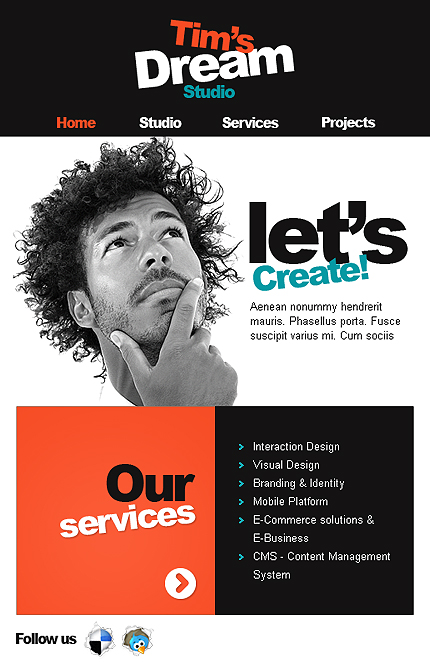 ADOBE Photoshop Template 38107 Home Page Screenshot
