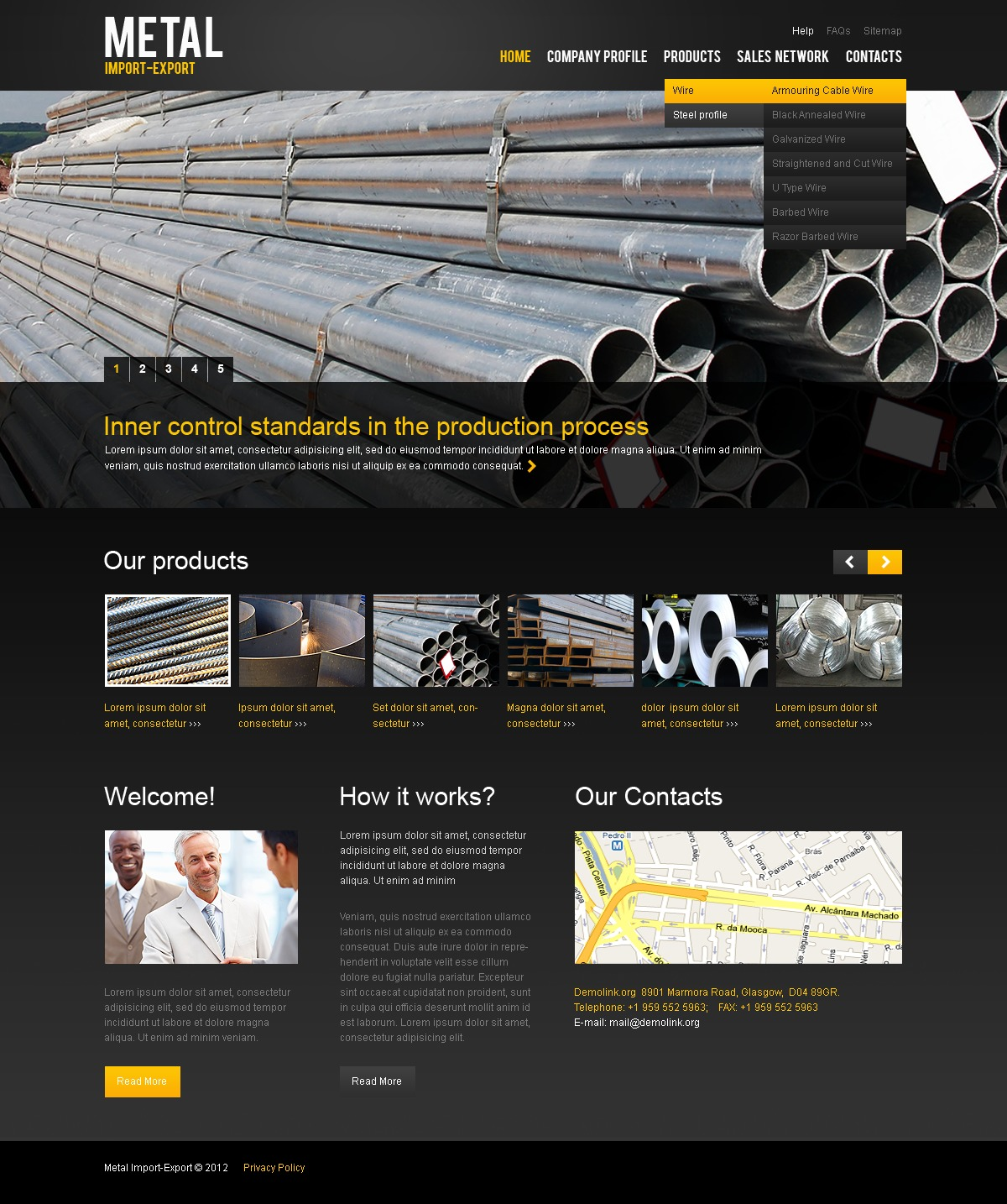 Steelworks Website Template #38110 by WT - Website Templates