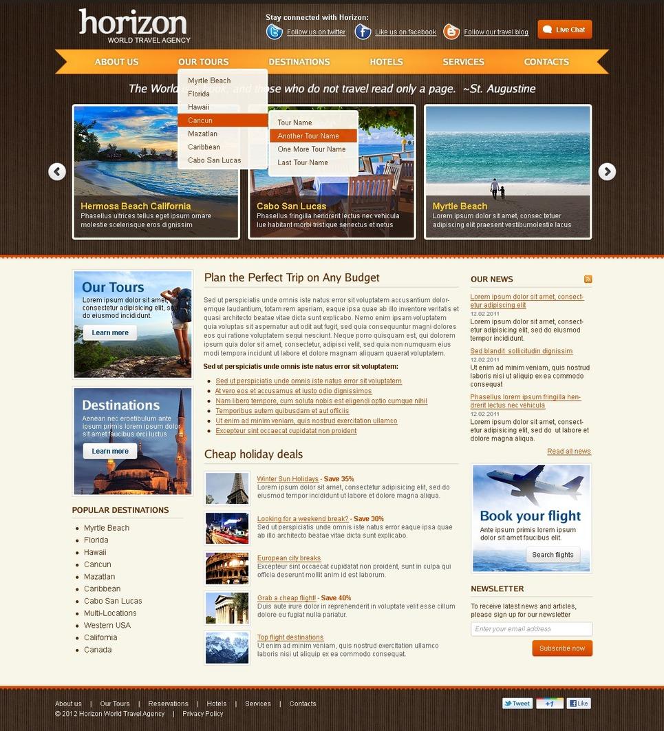 Travel Agency Website Template 38112