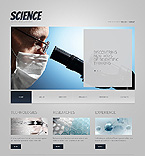 Science Website  Template 38115