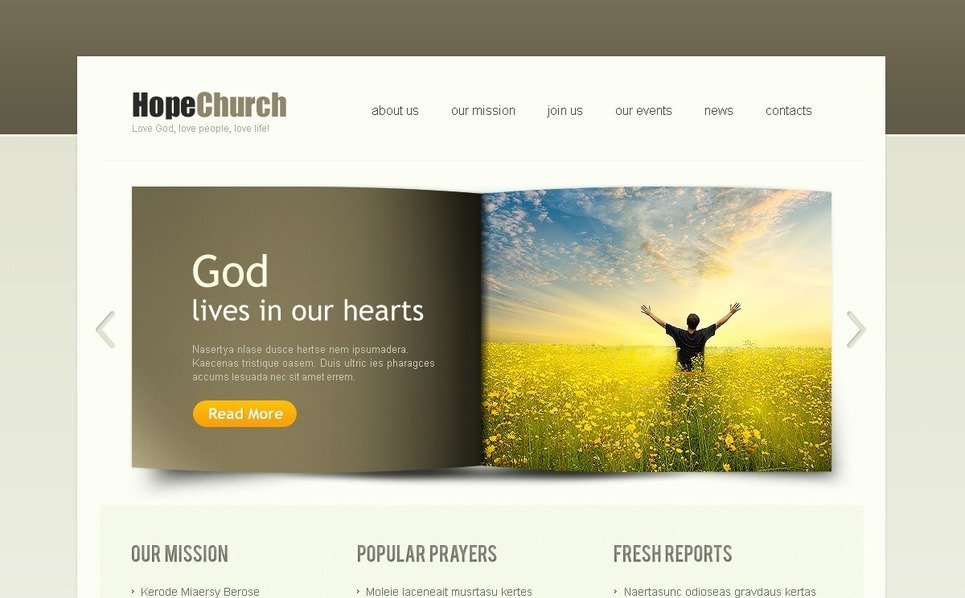 Template Photoshop  para Sites de Religião №38125 New Screenshots BIG