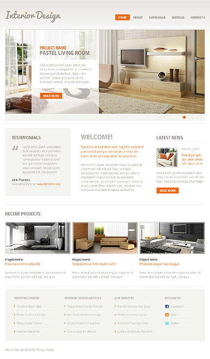 ADOBE Photoshop Template 38126 Home Page Screenshot