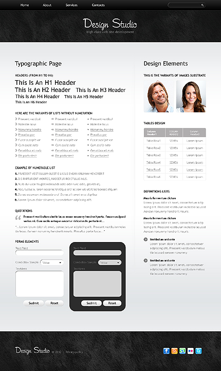 ADOBE Photoshop Template 38130 Home Page Screenshot