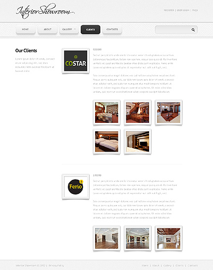 Template 38136 ( Clients Page ) ADOBE Photoshop Screenshot