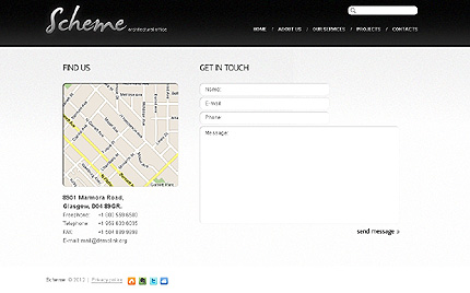 Template 38141 ( Contacts Page ) ADOBE Photoshop Screenshot