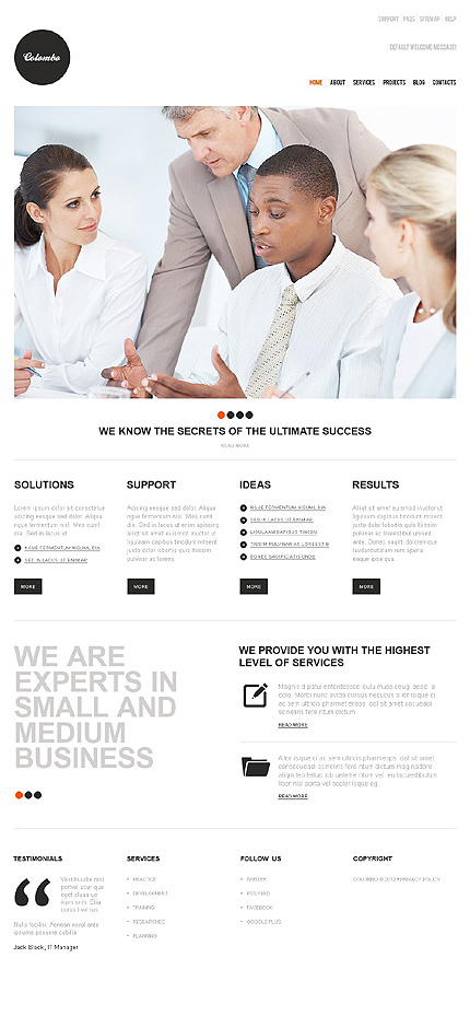Joomla Theme/Template 38143 Main Page Screenshot