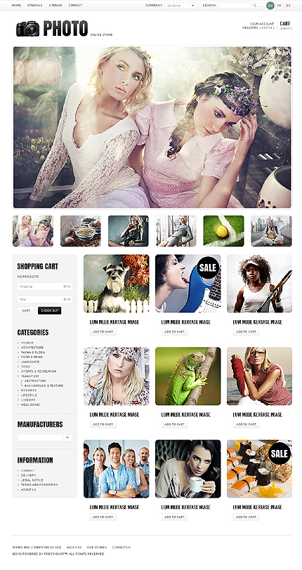 ADOBE Photoshop Template 38145 Home Page Screenshot
