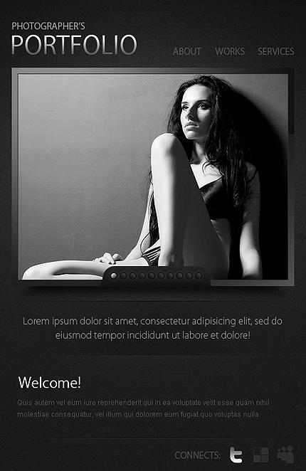 ADOBE Photoshop Template 38157 Home Page Screenshot
